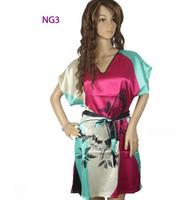 2013 Hot sale nightgown pajamas women's summer sleeveless silk nightgown plus size sexy silk sleepwear Freeshipping WHOLESALE