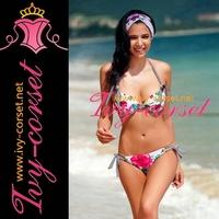 Free Shipping!Design Sexy New Swimsuit Swimwear Beachwear Bikini Set beach bikini with Red Blooming floral Y3029
