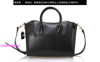 Candy Color Cowhide Tote in Black