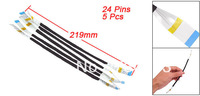5 Pcs 219mm Length 24 Pins 0.5mm Pitch Flexible Flat Cables AWM 20624 80C 60V VW-1