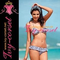 Free Shipping! New Sexy Women's Swimsuit Swimwear Beachwear Bikini Set beach bikini in Blue floral