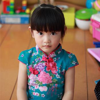 2013 Summer Girl's Girl's Dress fluid Cheongsam Dress Girl's Cheongsam floral Print Cheongsam Princess Cheongsam Dress(China (Mainland))