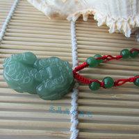 Lovers accessories green aventurine jade pi xiu pendant lovers pendant necklace