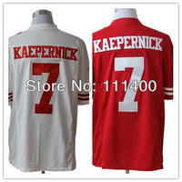 2012-13 Men's Cheap American Football Jerseys San Francisco #7 Colin Kaepernick Limited Red White Jersey Size:S-XXXL can mix