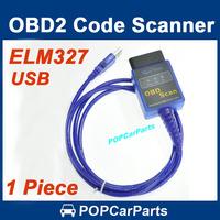 ELM327 Mini USB OBDII V1.5 Car Diagnostic Interface Scanner OBD2 Auto Code Scan Tool, Free Shipping