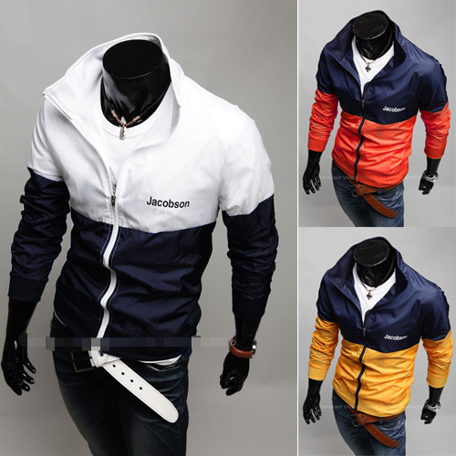 Zip stylish fashion designer hoodies outwear jacket for mens clothing
