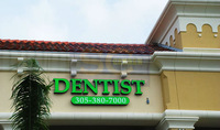 custom-made attractive business advertising logotype led lighting sign letters outdoors for Dentist