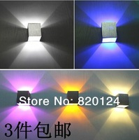 100% true 3W LED Spotlight Square Spot lamp LED Stairs lamp Warm white Nature white Cool white RGB backgroud light stage lamp