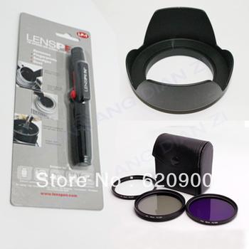 1pcs 55mm 55mm UV FLD CPL BAG Filter Set Polfilter +LP-1 PEN +lens hood with gift cap for Canon EOS 650D 550D 1100D 500D 450D