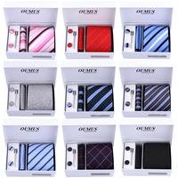 Free Shipping 6pcs/set gift box  ties brand  Men's Ties Necktie Plaid Stripe Mans Tie Neckties