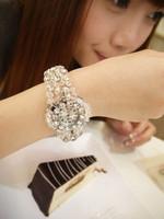 Good Bling bling rhinestone patchwork crystal quality bracelet watch box
