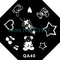 30pcs(=30styles) x Brand New Octangle Nail Art Stamp Template Image Plates(QA31-QA60)-Free Shipping Wholesale