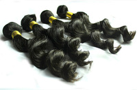 5A  3pcs lot Peruvian virgin hair loose wave unprocessed human hair weaving.natural color 95-100g/bundle,DHL free shipping