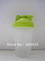 Green 400ml  shaker bottle  with  18-8 stainless steel blender ball  BPA FREE