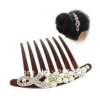 Full $ 20 free shipping Accessories fashion bow hair accessory plate hairpin crystal comb rhinestone hair accessory h001