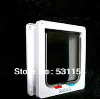 Large special holiday sales! 4-way pet cat pet dog flap door security lock free shipping white large