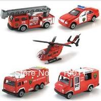 Free shipping MINI Alloy Fire Truck Series Car Model Toys 5pcs/set