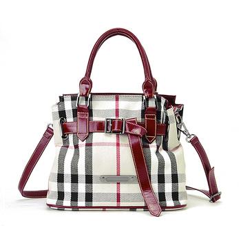 Classic check strap accessories handbag women's handbag 90073801
