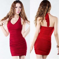 Sexy tight sauna racerback repair female ultra-short slim hip one-piece dress formal dress evening dress