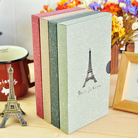 Korea stationery focuses on the eiffel tower vintage diary hardcover notebook with box