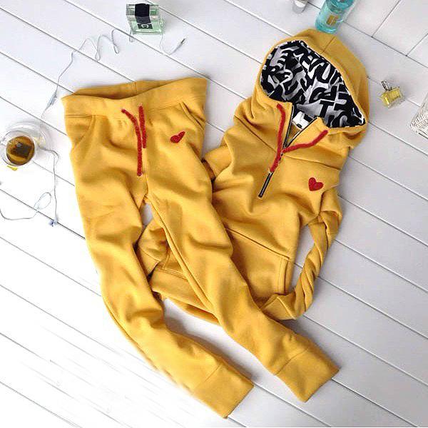 2015 women's set female casual fashion sportswear long-sleeve pullover sweatshirt set(China (Mainland))