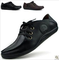 2013 fall new men casual shoes soft bottom soft leather shoes size 39-43 fashion business casual driving shoes to help low  A241