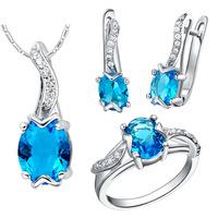 2014 Plastic Jewelry Set Bijuterias Copper Made 925 Pendants Rings Ear Ding Austrian Set Super Cheap Wholesale Fashion Spot