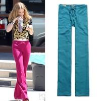 2013 summer paragraph comfortable breathable casual solid color drawstring hemp cloth belt wide leg pants plus size long wide