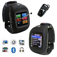 "Free Shipping watch phone with 1.5"" Touching Screen Support MP3/Camera/Bluetooth for Christmas gift"