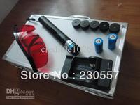 303High Power 5 * laser heads of flashlight+safety glasses+Battery*16340+aluminum box+4000MW adjusta