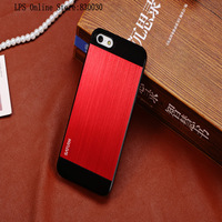 Newest! Free Shipping Hard Aluminum Brush Metal Case For iphone5,Matte Cases,Luxury Cover and high quality