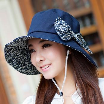 Beach cap summer sun-shading sun hat anti-uv large brim hat female summer hat flower sun hat
