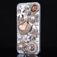 Deluxe 3D Bling Handmade Handbag Diamond Rhinestone Case Cover For iPhone 4 4S 5