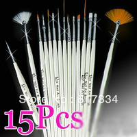 15pcs Professional Nail Art Brush Kit Free Shipping