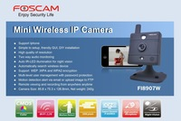 FOSCAM FI8907W CAMERA NETWORK IP WIRELESS BABY MONITOR CAM WHITE 2-WAY AUDIO Black