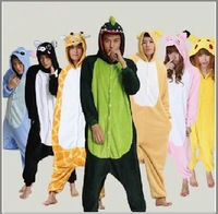 hot!! Coral fleece cartoon animal stitch cow one piece sleepwear,free shipping ,autumn & winter sleepwear,new style,