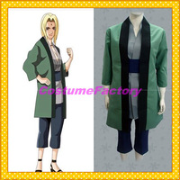 Free Shipping Custom Made Naruto Cosplay Tsunade Kimono Party Costume,1.5kg/pc