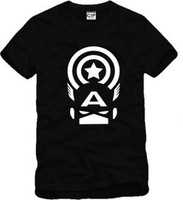 Men and women couple models clothes Avengers Captain America Iron Man logo A cotton round neck short sleeve