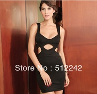 2013 Black Hollow Cut Out Club Wear Women Sexy Dress LC2520 High Quality free shipping
