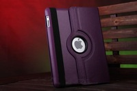 200pcs/lot  wholesale 11 Color Rotate 360 Drees Rtating Cover case For iPad mini Leather stand , Stylus pen , Screen protector