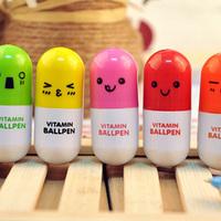 new  Korea stationery small fresh pills cartoon retractable pen ballpoint pen