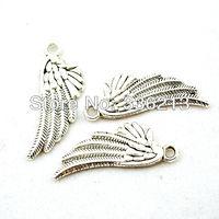 100 Zinc Alloy Fancy Angel Wing Charm Pendants, Elegant Earrings, Necklace