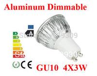 Hot selling Aluminum GU10  12W 4*3W   E27/MR16/GU5.3 Dimmable LED Light Bulb High Power  LED Lamp Spotlight LED Lighting