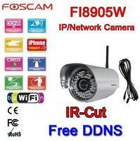 Foscam FI8905W Wireless IP Camera WLAN Remote Access IR-cut 6MM Lens Free DDNS free fedex and ems