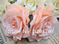 "6X champa rose Artificial Silk Flower Heads Craft Wedding Wholesale 4""/10cm sf5"