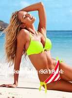 Hot sale Novelties Women bikini push up set sexy swimwear VS summer beach wear 2014 Swiming suits items swimwear striped bikini