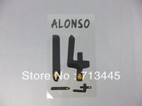 #8 ALONSO Real Madrid Home name sets 2013/14, Print name and numebr .10pic/lots Free custom,Free Shipping