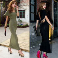 free shipping 2013 back sexy fashion Hollow out backless  full dress