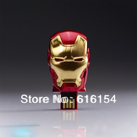 4GB 8GB 16GB 32GB 64GB Iron Man3 USB Flash Drive (Gold)  Free Shipping