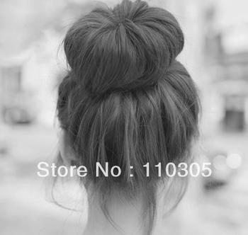 120pcs Hair Volumizing Scrunchie Donut Ring Style Bun Scrunchy Sock Poof Bump It Snooki